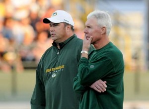 Packers Mike McCarthy & Ted Thompson think it over...