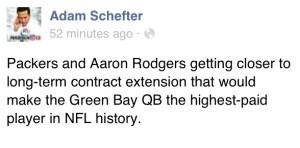 Adam Schefter Tweet Aaron Rodgers