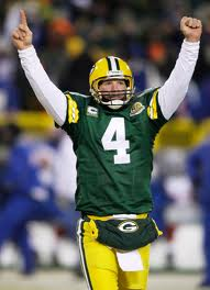 brett favre arms up