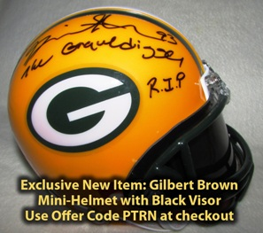 Gilbert Brown Autographed Items PACKERS MEMORABILIA