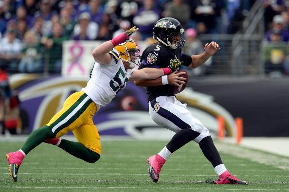 A.J. Hawk notched a career best three sacks on Sunday. He will need to carry the defense with Clay Matthews out.