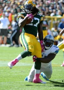 Packers running back Eddie Lacy ran for a career high 99 yards but wasn't a factor in two 3rd and ones.