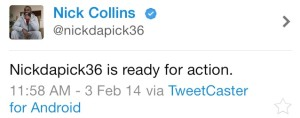 Nick collins tweet
