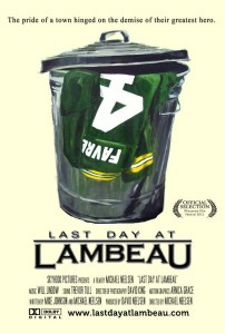 """Last Day at Lambeau"" poster"