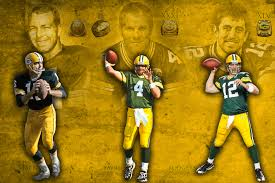 Starr Favre Rodgers Packers Star