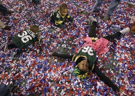 Nick Collins children at Super Bowl XLV