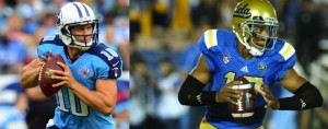 Jake Locker and Brett Hundley