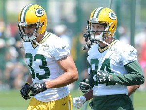 Packers Receivers Jeff Janis and Jared Abbrederis