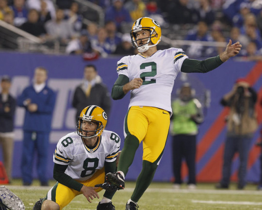 Packers kicker Mason Crosby