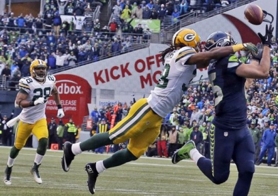 Seattle's game-winning touchdown against the Packers