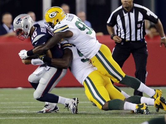 Packers' LB Jayrone Elliott Sacks New England QB Jimmy Garoppolo