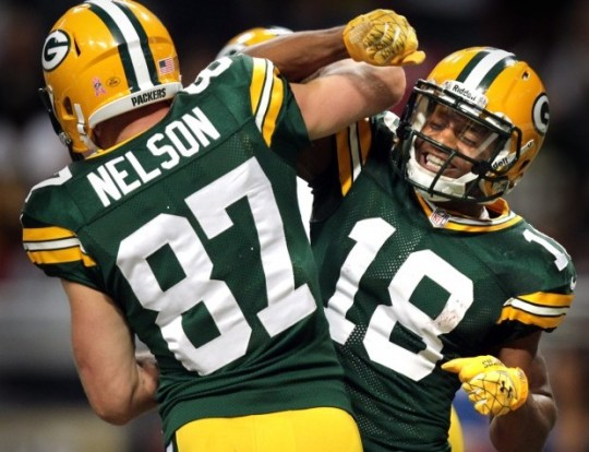Packers Receivers Jordy Nelson and Randall Cobb