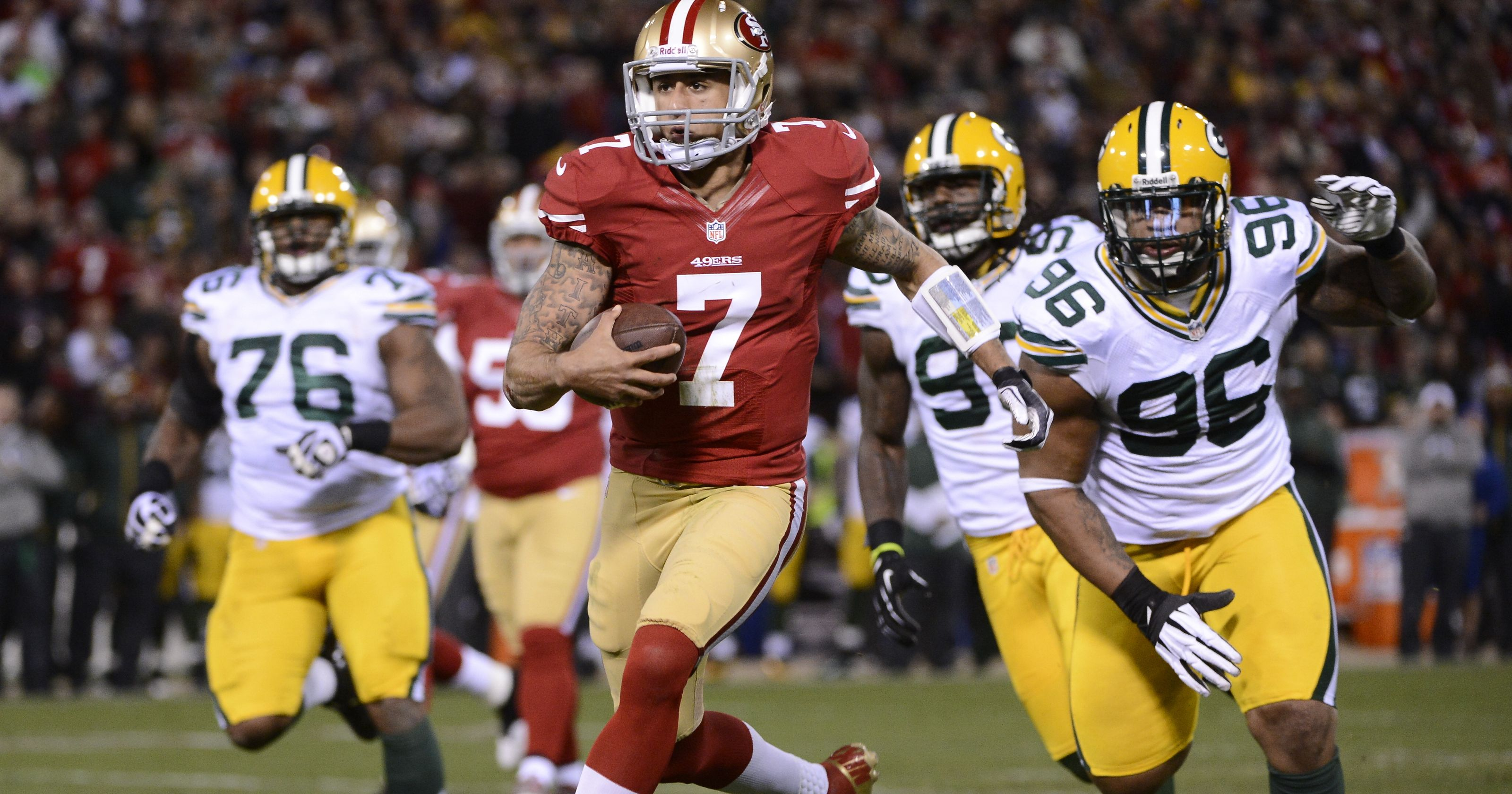 colin kaepernick 49ers, Packers