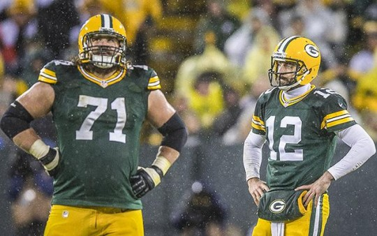 Packers QB Aaron Rodgers and OL Josh Sitton