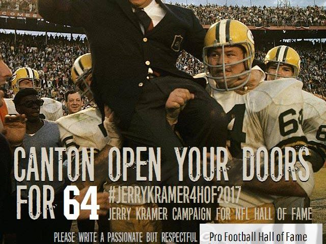 Jerry Kramer for Pro Football Hall of Fame
